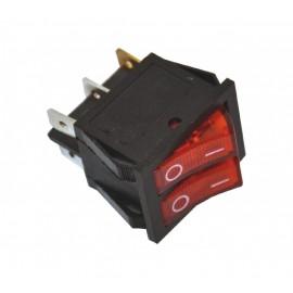 ME-D8-2121 dupli ugradni crveni prekidač sa tinjalicom, za kvarcnu grejalicu Mitea Electric