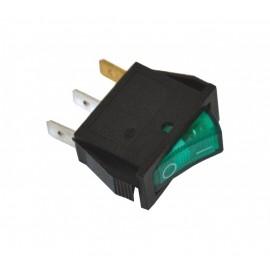 ME-D8-111N ugradni uski zeleni prekidač sa tinjalicom, za kvarcnu grejalicu Mitea Electric