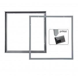 -S Set1 nadgradni za LED PANEL srebrni 600x600 Mitea Lighting