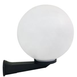 M250010 IP44 max.1x60W E27 bela kugla zidna lampa PMMA Mitea Lighting