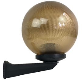 M350012 IP44 max.1x60W E27 prizmatik zlatna kugla zidna lampa PMMA Mitea Lighting