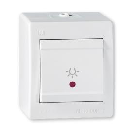 Aling taster svetla sa indikatorom beli IP44 255I.00 OG Power