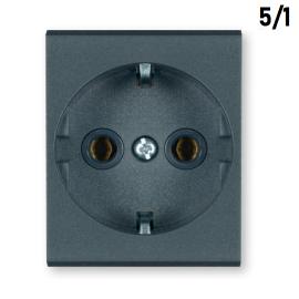 Aling PP 2M priključnica šuho II antracit 651.A 5/1 MODE