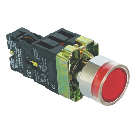 ME-BA61 crveni ugradni taster NC sa tinjalicom IP63 Mitea Electric