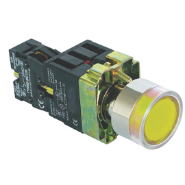 ME-BA51 žuti ugradni taster NO/NC sa tinjalicom IP63 Mitea Electric