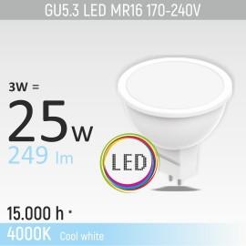-S GU5.3 3W MR16M1 4000K LED sijalica 170-240V Mitea Lighting