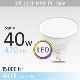 -S GU5.3 5W MR16M1 4000K LED sijalica 170-240V Mitea Lighting