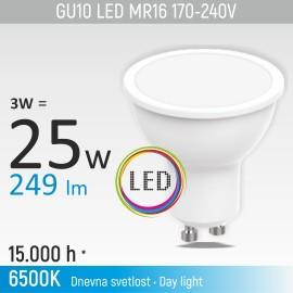 -S GU10 3W M1 6500K LED sijalica 170-240V Mitea Lighting