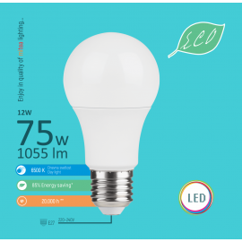 -S E27 12W A60 6500K LED ECO sijalica 220-240V Mitea Lighting