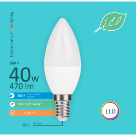 -S E14 5W C36 6500K LED ECO sijalica 220-240V