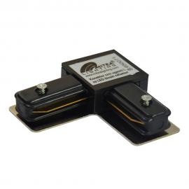 Konektor crni ugaoni L za LED šinski reflektor Mitea Lighting