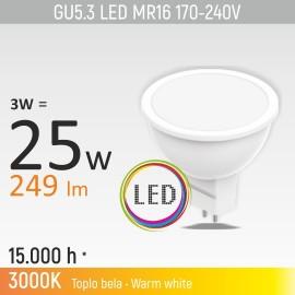 -S GU5.3 3W MR16M1 3000K LED sijalica 170-240V Mitea Lighting
