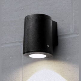 -S FRANCA 90 1L zidna lampa crna IP55 1xGU10 LED 3.5W 4000K-sijalica uključena uz proizvod 3A7.002.000.U1L Fumagalli