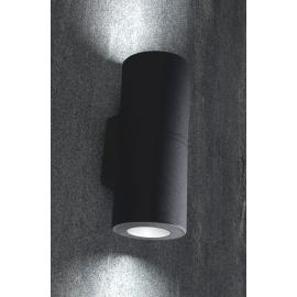 -S FRANCA 90 2L zidna lampa crna IP55 2xGU10 LED 2x3.5W 4000K-sijalica uključena uz proizvod 3A7.003.000.U2L Fumagalli