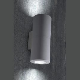 -S FRANCA 90 2L zidna lampa siva IP55 2xGU10 LED 2x3.5W 4000K-sijalica uključena uz proizvod 3A7.003.000.U2L Fumagalli