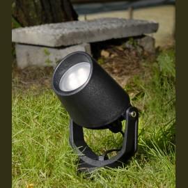 -S MINITOMMY EL ubodna lampa crna IP66 1xGU10 LED 1x3.5W 4000K-sijalica uključena uz proizvod 1M2.000.000.U1L Fumagalli