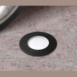 -S CECI 90 okrugla crna spoljna ugradna lampa  IP67 1xGU10 LED 3.5W 4000K-sijalica uključena uz proizvod 1F1.000.000.U1L Fumagalli