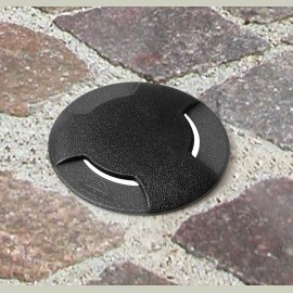 -S CECI 90 3L okrugla crna spoljna ugradna lampa IP67 1xGU10 LED 3.5W 4000K-sijalica ukljucena uz proizvod 1F3.000.000.U1L Fumagalli