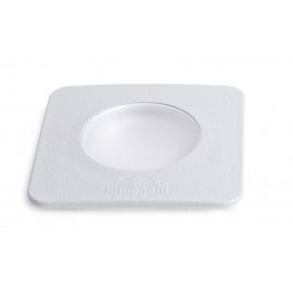 -S CECI 90 kvadratna siva spoljna ugradna lampa IP67 1xGU10 LED 3.5W 4000K-sijalica uključena uz proizvod 1F4.000.000.U1L Fumagalli
