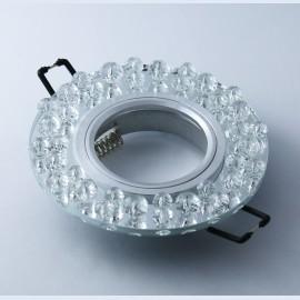 M206079 Ugradna svetiljka transparentna+kristali okrugla Mitea Lighting