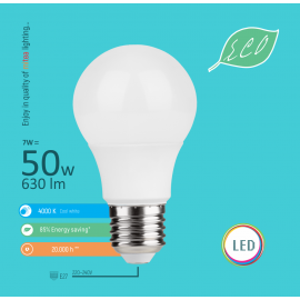 -S E27 7W A58 4000K LED ECO sijalica 220-240V Mitea Lighting