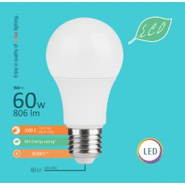 -S E27 9W A60 3000K LED ECO sijalica 220-240V Mitea Lighting