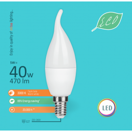 -S E14 5W C36 deko sveća 3000K LED ECO sijalica 220-240V