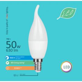 -S E14 7W C37 deko sveća 6500K LED ECO sijalica 220-240V