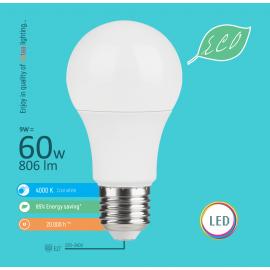 -S E27 9W A60 4000K LED ECO sijalica 220-240V Mitea Lighting