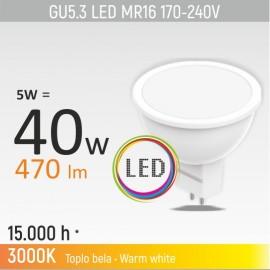 -S GU5.3 5W MR16M1 3000K LED sijalica 170-240V Mitea Lighting