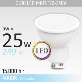 -S GU10 3W M1 4000K LED sijalica 170-240V Mitea Lighting