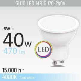 -S GU10 5W M1 4000K LED sijalica 170-240V Mitea Lighting