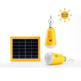 M702003 LED sijalica 2x2W 6500K + solarni panel 3W + power bank Mitea Lighting
