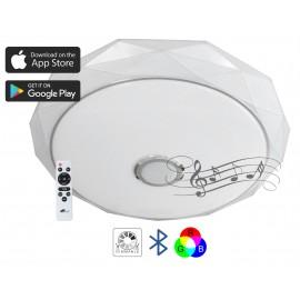 M205502-BT/WRGB 2x24W fi410mm LED SMD plafonjera DIJAMANT sa zvučnikom 5W, bluetooth, Android/iOS APP iLink (muzička plafonjera) Mitea Lighting