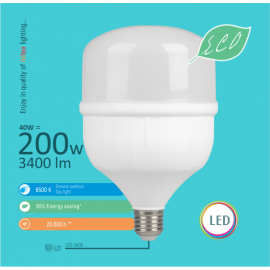-S E27 40W T7 6500K 118x186mm LED ECO sijalica 220-240V Mitea Lighting
