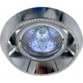 M206045 Ugradna svetiljka hrom+kristali okrugla Mitea Lighting