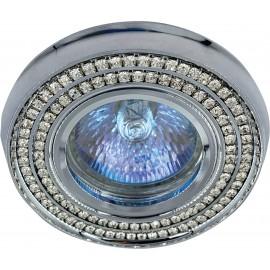 M206046 Ugradna svetiljka hrom+kristali okrugla Mitea Lighting