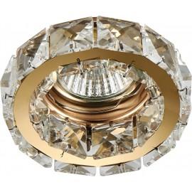 M206062 Ugradna svetiljka zlatna+transparentni nizovi okrugla Mitea Lighting