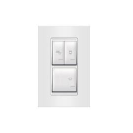 Aling set sklopka za kupatilo vertikalna univerzalna 3x16AX 250V EXP 72323.00 sa ind, bela
