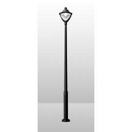 -S EKTOR 2500 /BEPPE 400 crna stubna lampa 1xE27 power LED30W 4000K-sijalica uključena uz proizvod P50.361.000.Q1L Fumagalli