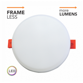 MP18UO-FL 18W 4000K beli ugradni okrugli LED panel FRAME LESS BACK SIDE Mitea Lighting