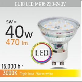 -S GU10 5W 3000K LED staklena sijalica 220-240V Mitea Lighting