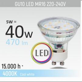 -S GU10 5W 4000K LED staklena sijalica 220-240V Mitea Lighting