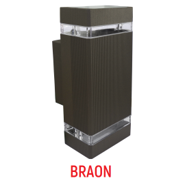 M035 B BRAON 2xGU10 max.35W zidna lampa IP44 Mitea Lighting
