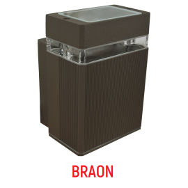 M036 B BRAON 1xGU10 max.35W zidna lampa IP44 Mitea Lighting