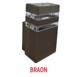 M036 B BRAON dva reda 1xGU10 max.35W zidna lampa IP44 Mitea Lighting