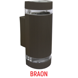 M037 B BRAON 2xGU10 max.35W zidna lampa IP44 Mitea Lighting