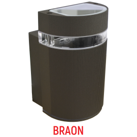 M038 B BRAON 1xGU10 max.35W zidna lampa IP44 Mitea Lighting