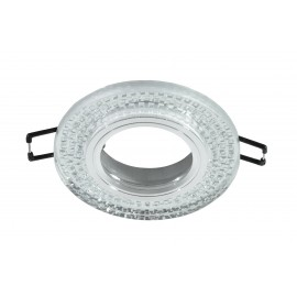M206039 Ugradna svetiljka transparentna+kristali okrugla Mitea Lighting