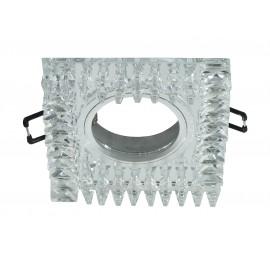 M206054 Ugradna svetiljka transparentna+kristali kvadratna Mitea Lighting